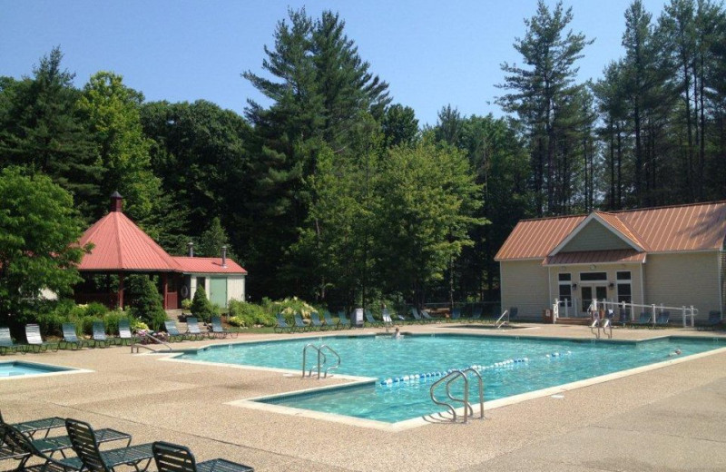 Attitash Mountain Village outdoor pool at North Conway Lodging.
