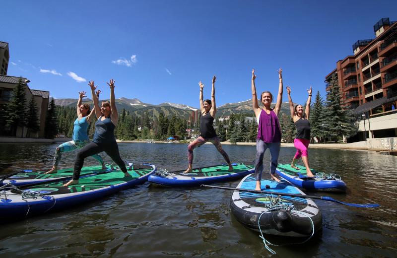 Paddle board at Grand Colorado on Peak 8.