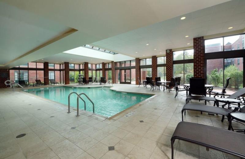 Indoor pool at Hilton Mystic.