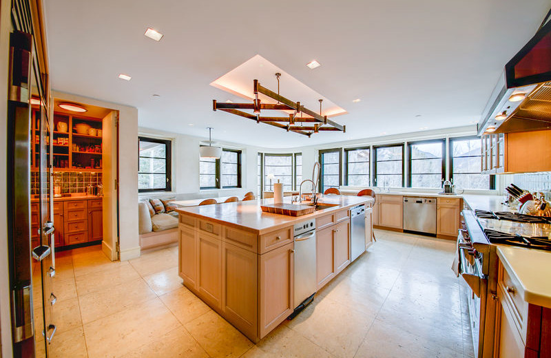 Rental kitchen at Aspen Luxury Vacation Rentals.