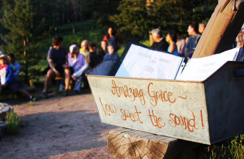 Bible study is available every week at Wind River Ranch