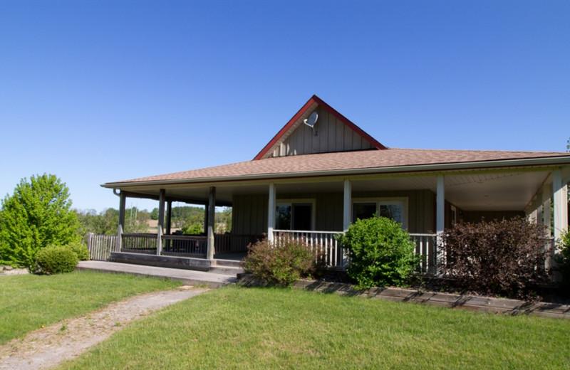 Cottage exterior at Ste. Anne's Spa.