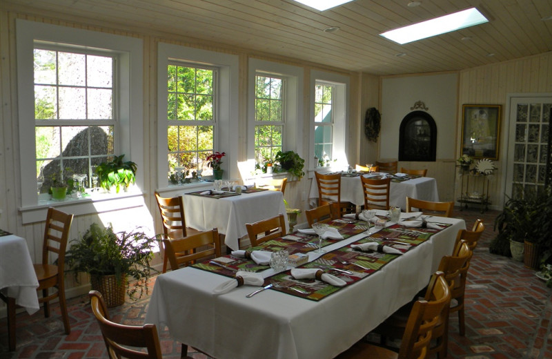Dining table at The Garden Walk Bed & Breakfast Inn.