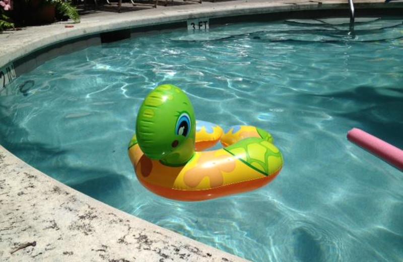 Outdoor pool float at The Banyan Resort.