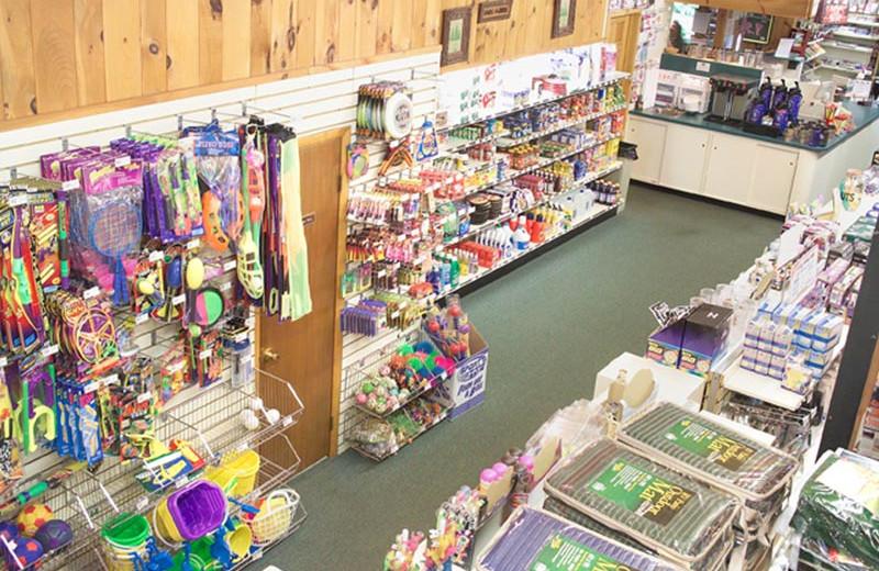 Gift shop at Lake George RV Park.