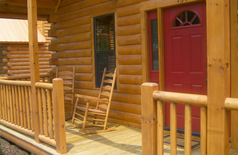 Cabin patio at White Oak Lodge & Resort.