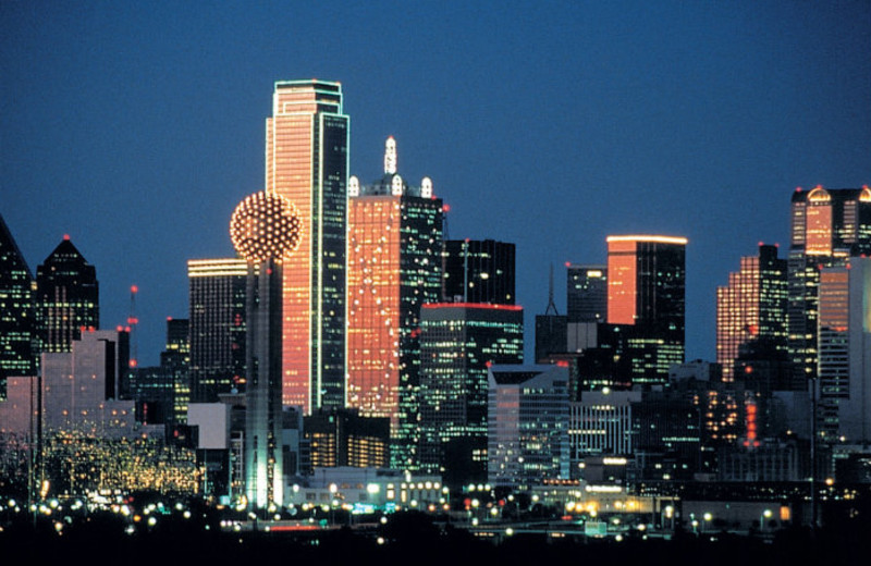 Dallas skyline at Hotel Lawrence.