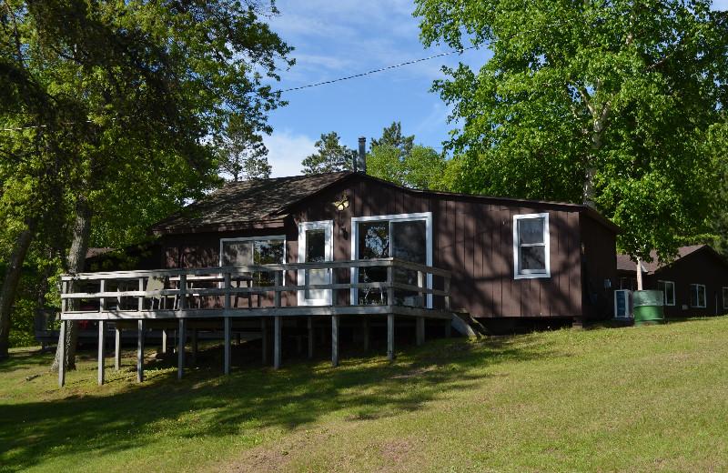 Cabin exterior at Bay View Lodge.