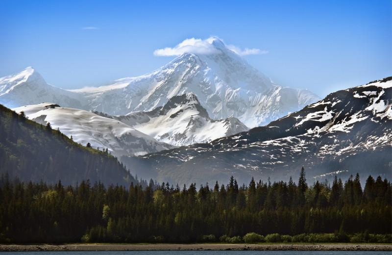 Mountains at Alaska's Big Salmon Lodge.
