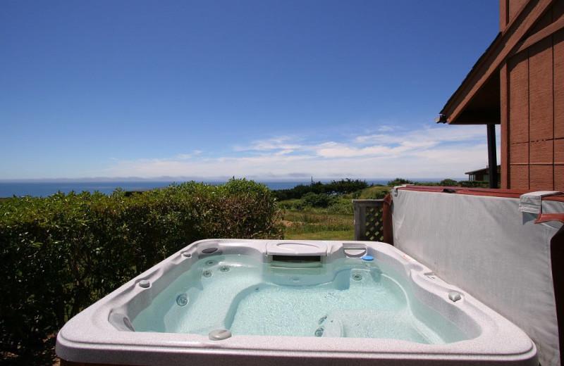 Rental hot tub at Irish Beach Rental Agency.