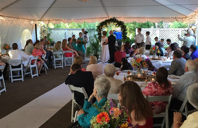 Wedding at Crystal River Inn.
