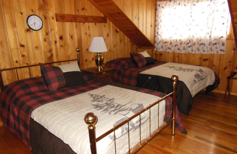 Cabin bedroom at Madison Management.