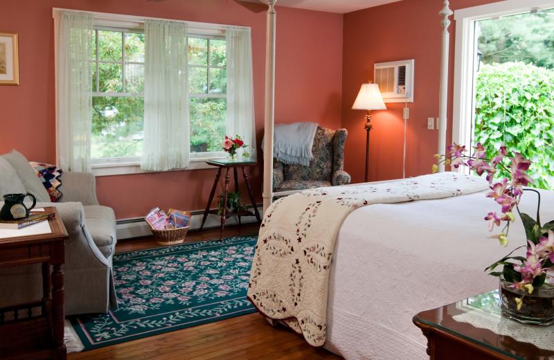 Guest room at Eagles Mere Inn.