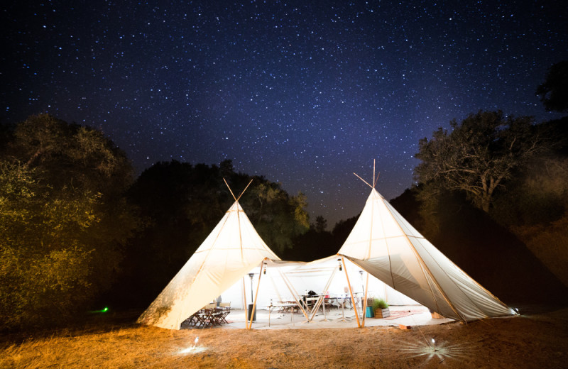 Tent exterior at Grand Canyon Under Canvas.