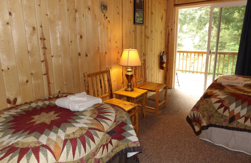 Guest room at Half Moon Bar Lodge.