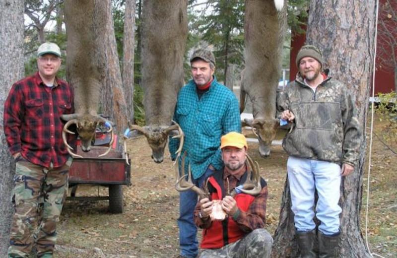 Deer hunting at Rex Tolton's Miles Bay Camp.