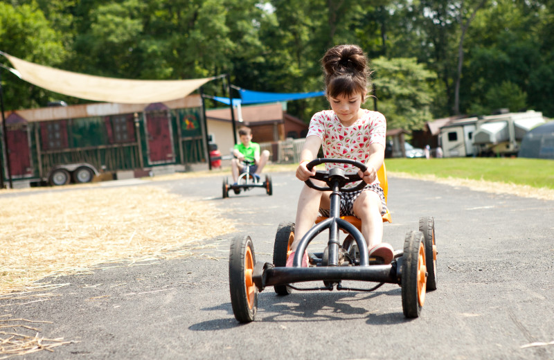 Peddle kart track at Yogi Bear's Jellystone Park Quarryville.