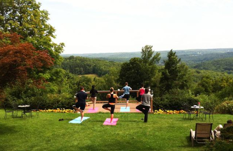 Yoga with a view at The French Manor Inn and Spa.