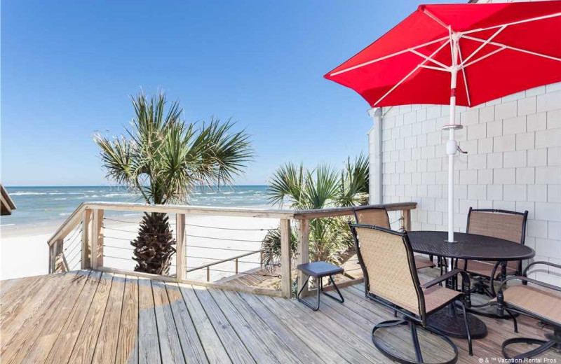Rental patio at Vacation Rental Pros - St. Augustine.