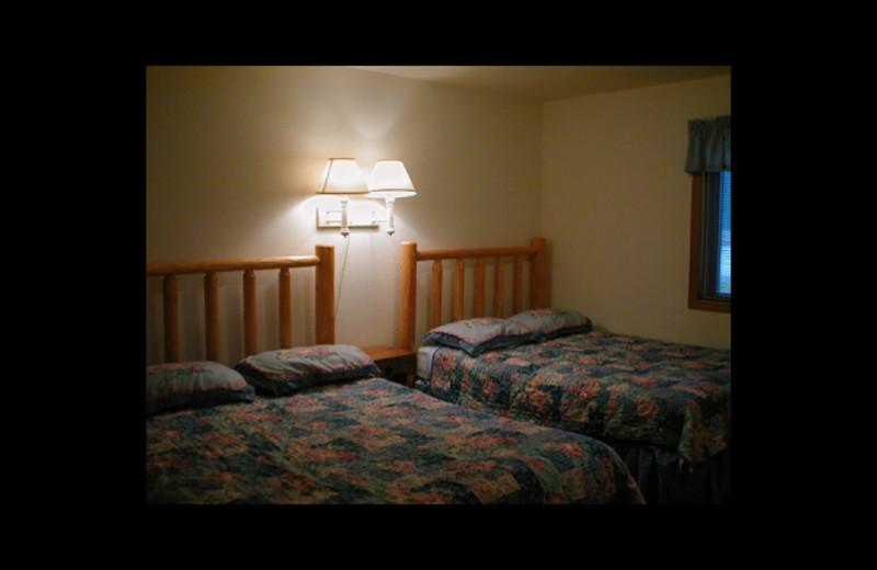 Cabin bedroom at Birch Bay Resort.