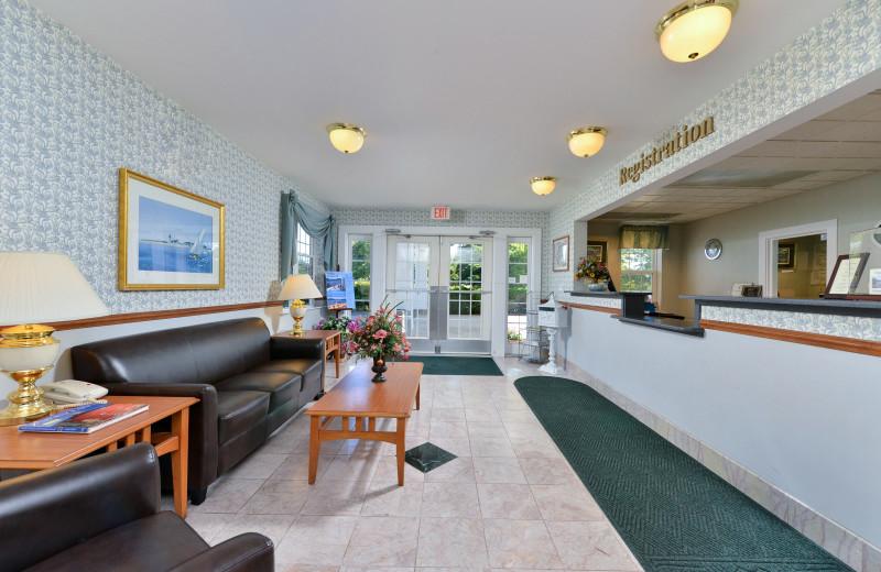 Lobby at Acadia Inn.