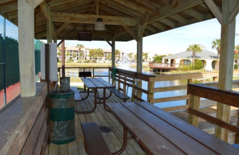 Picnic area at St. Augustine Ocean & Racquet Resort.