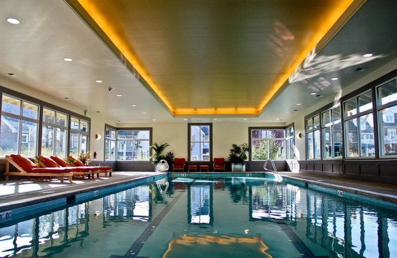 Indoor pool at Seabrook Cottage Rentals.