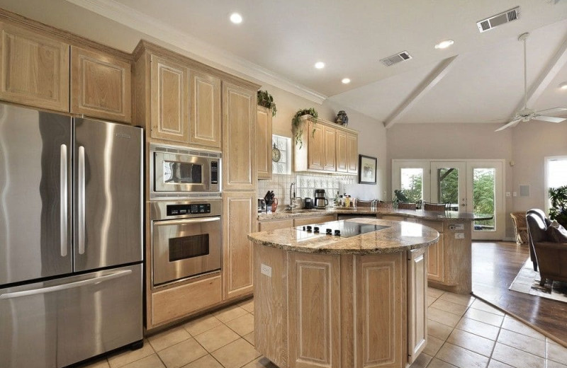 Kitchen at Serene Hill Country Home.