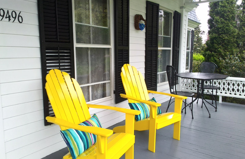 Enjoy sitting on the front porch.