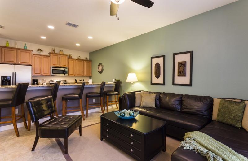 Rental interior at Orlando Luxury Escapes Vacation Rentals.