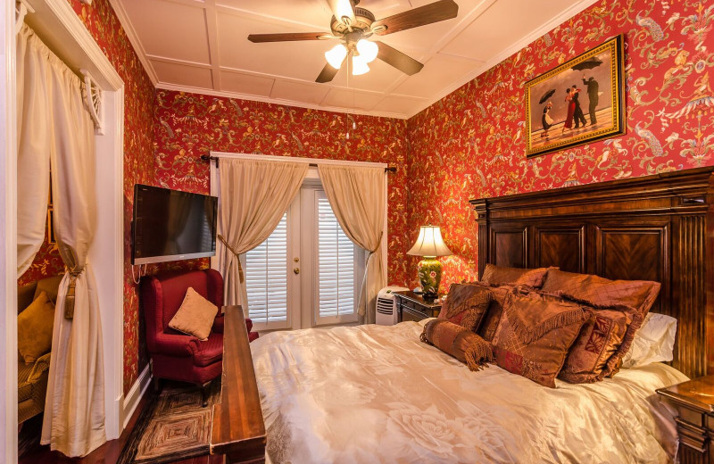 Guest room at Casablanca Inn.