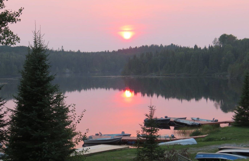Sunset at Bay Wolf Camp.
