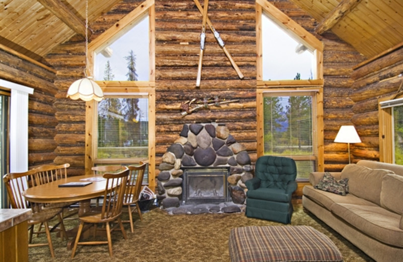 Lake Cabin interior at Redfish Lake Lodge.