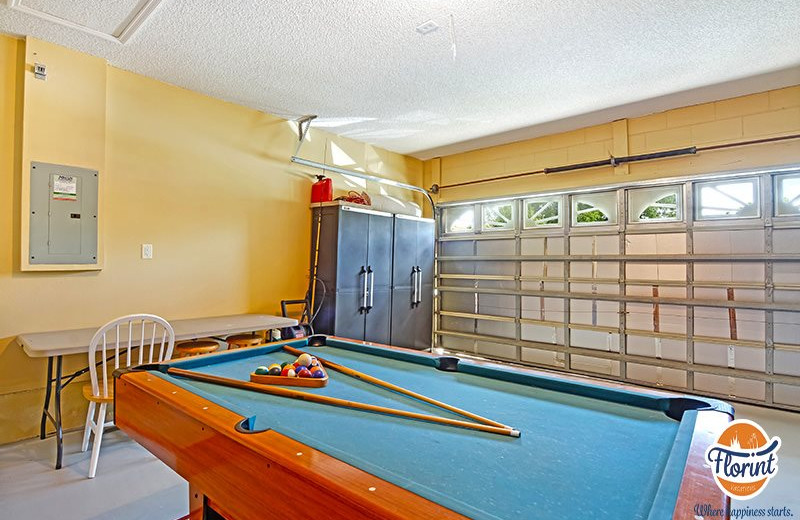 Rental game room at Florint Vacations.