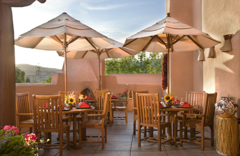 Outdoor dining at Hotel Santa Fe
