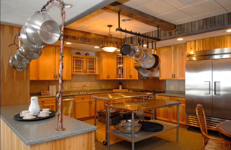Kitchen facilities at Pine Lakes Lodge.