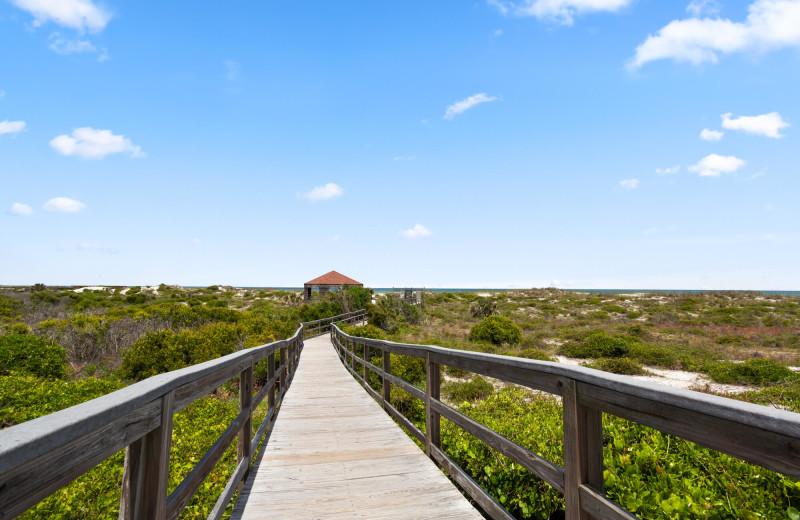 Boardwalk at Saint Augustine Beach Vacation Rentals.