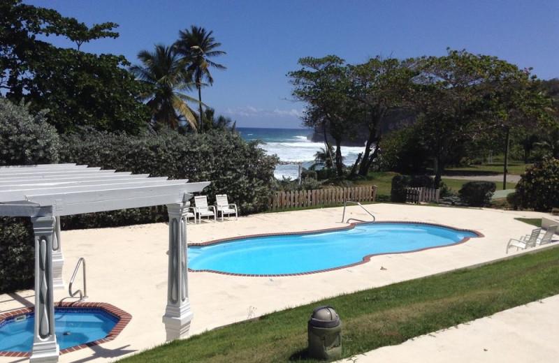 Outdoor pool at Parador El Guajataca.