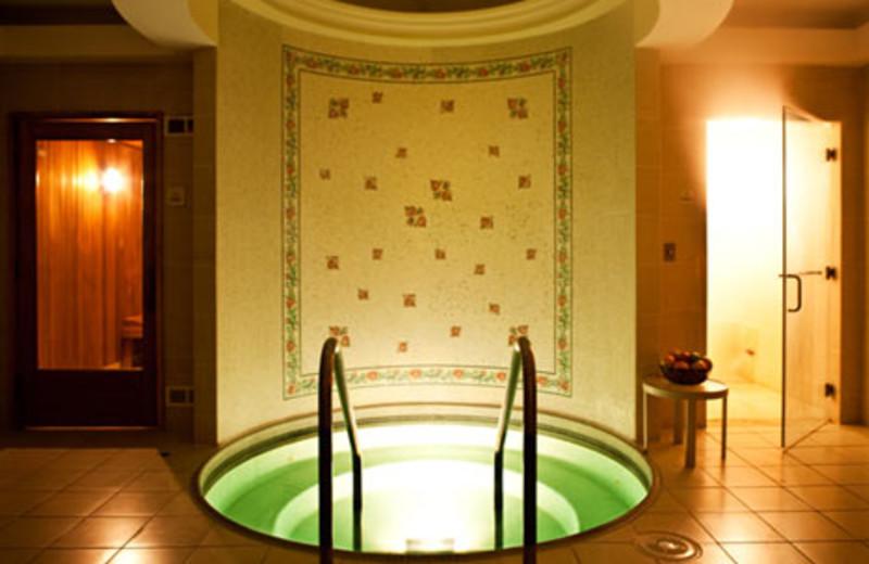 Spa hot tub at The Langham, Huntington Hotel & Spa.