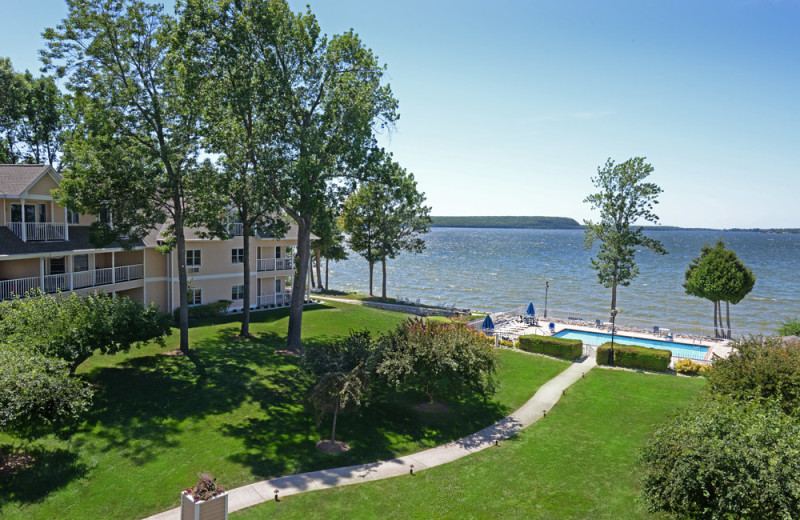 Lake view at Westwood Shores Waterfront Resort.