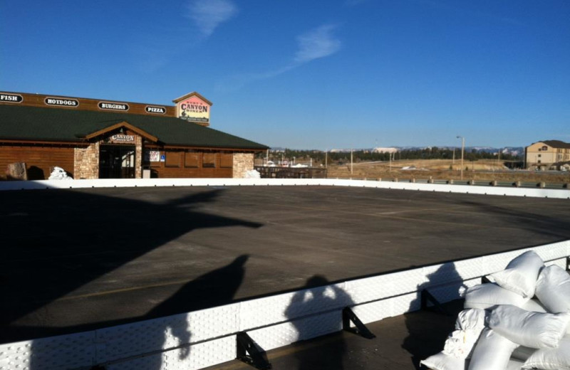 Ice skate rink at Best Western Bryce Canyon Grand Hotel.
