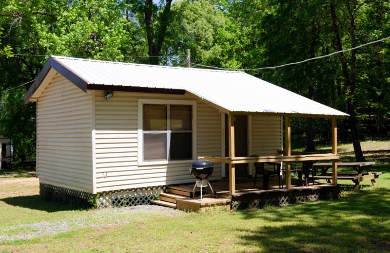 Cabin exterior at Kel's Kove.
