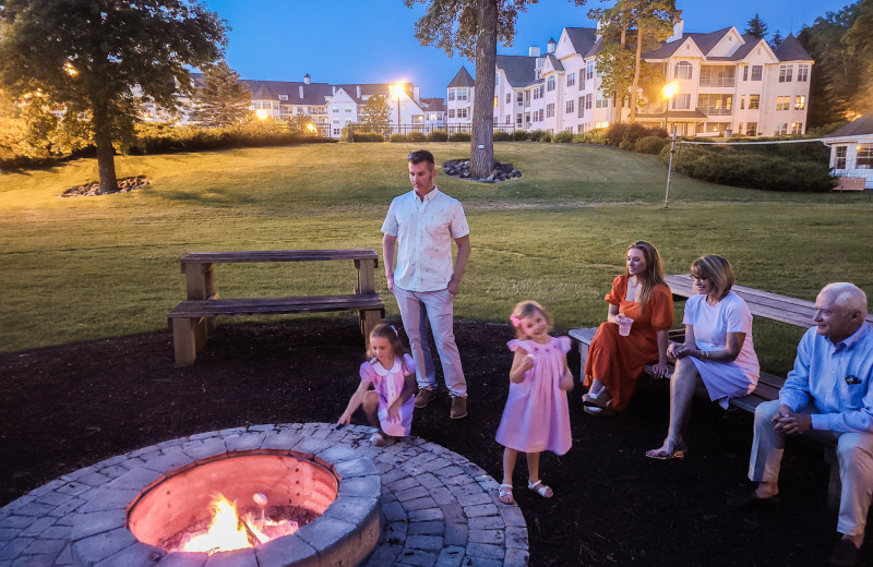 Fire pit at The Osthoff Resort.