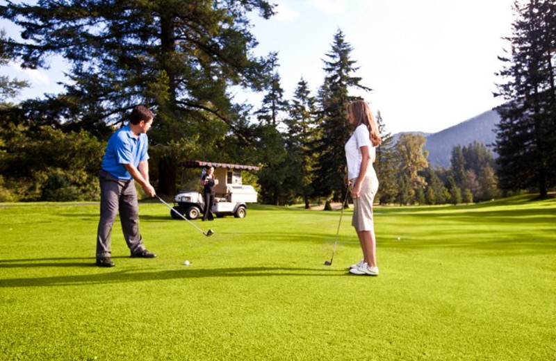 Golfing at The Resort at the Mountain.