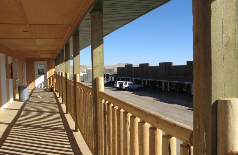Porch at Buffalo Gap Guest Ranch and Trailhead.
