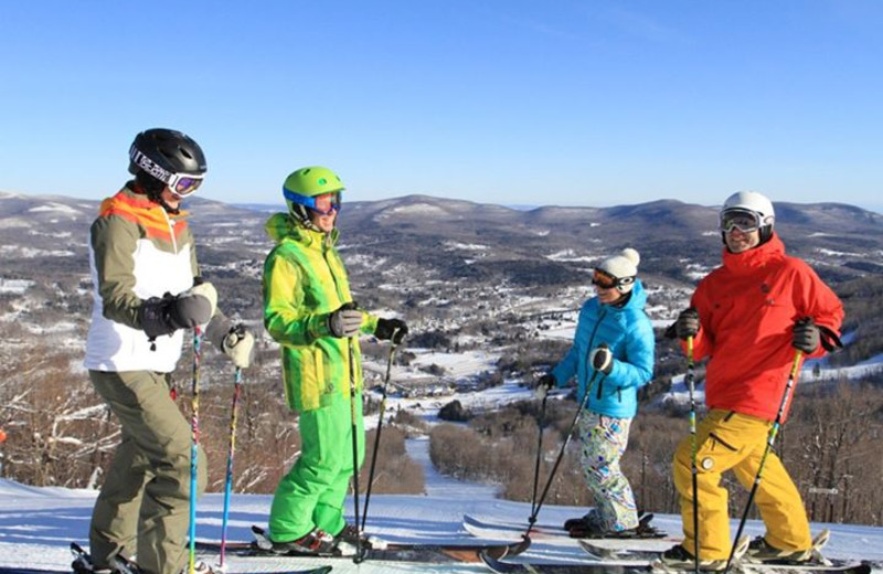Skiing at Windham Mountain near The Mountain Brook.
