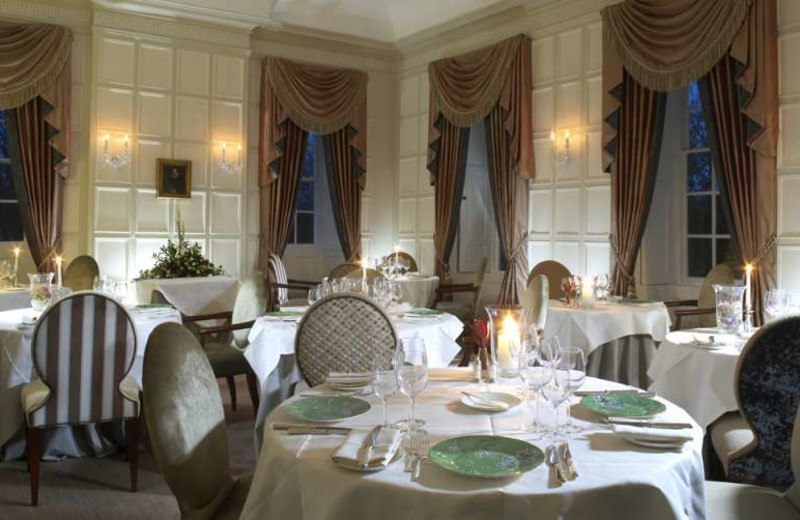 Dining at Ston Easton Park.