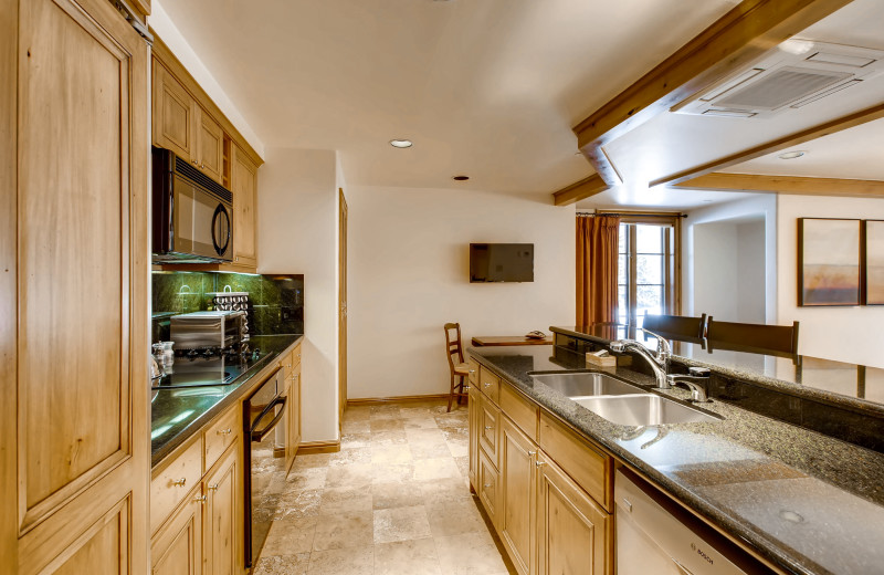Guest kitchen at Vail Mountain Lodge & Spa.