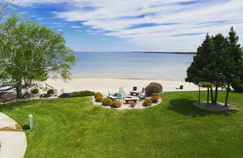 Beach view at Sand Bay Beach Resort.