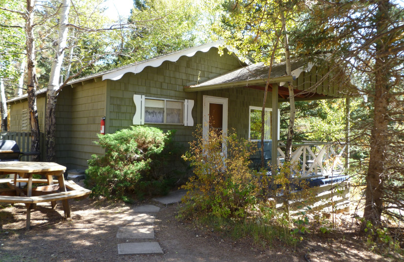 Cabin exterior at Workshire Lodge.